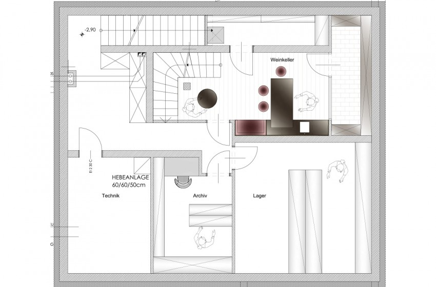 Planung eines einfamilienhauses in zellermoos frame for Innenarchitektur planung