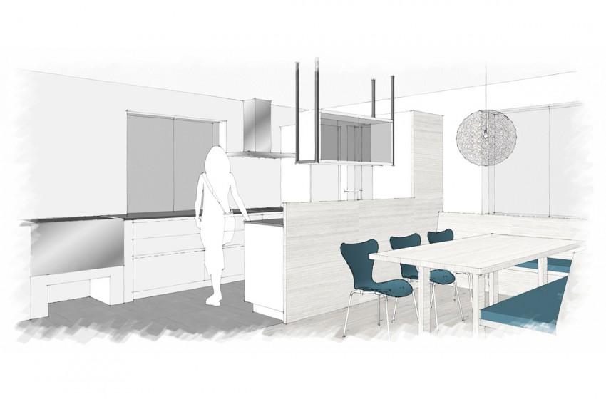 Planung und Umsetzung eines Koch- und Essbereiches in Wagrain