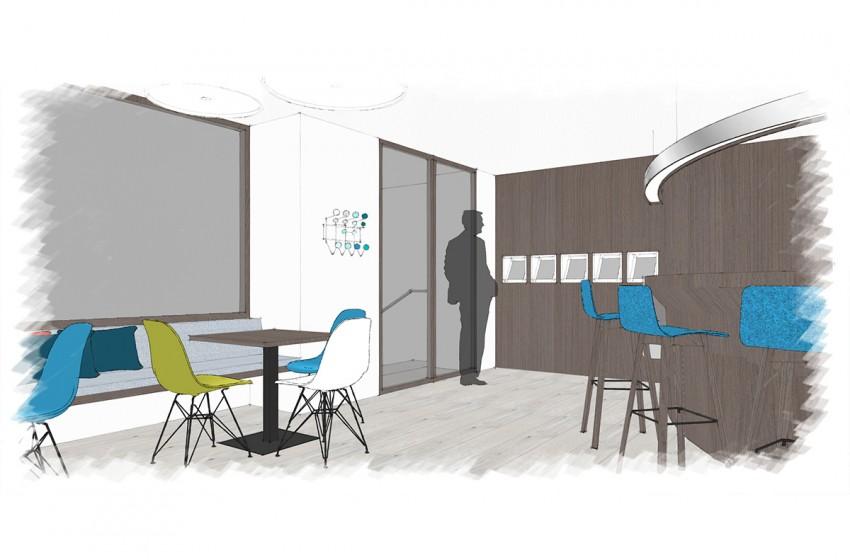 Entwurfsplanung Café | Stiftung Kurtherme Badehospiz in Bad Gastein